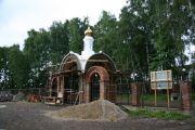 Штукатурные работы на главных вратах, август 2009 г.