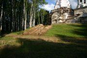 Подготовка к закладке фундамента северной лестницы.