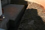 Работы по гидроизоляции фундамента храма, июль, 2010 г.