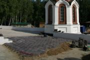 Начало укладки плитки на холме, 12 августа 2011 г.