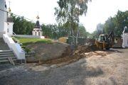 Планировочные работы на холме, сентябрь 2011 г.
