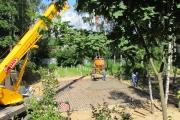 Строительство фундамента, июнь 2013 г..