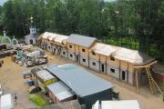 Строительство хозяйственно-бытового корпуса, июнь 2013 г.