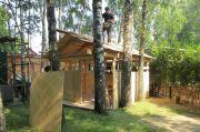 Строительство временной летней трапезной, июнь 2013 г.