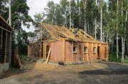 Строительство новой трапезной, июль 2013 г.