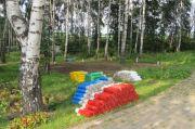 Устройство новой детской площадки, август 2013 г.