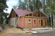 Строительство новой трапезной, август 2013 г.