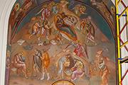 Работы по росписи правого придела храма мастерами-иконописцами из Греции завершены, май 2014