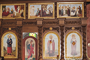 На новых иконах можно увидеть основные события 12-ти православных  праздников, август 2014 г.
