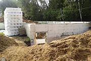 Несъемная опалубка для фундамента, сентябрь 2014 г.