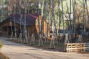 Высажен фруктовый сад, октябрь 2014 г.