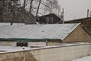 Проверка снегом крыши над погребом, декабрь 2014 г.