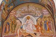 Греческие иконописцы расписали придел Воскресения Христова, декабрь 2014 г.