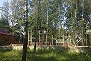 Начало строительство учебного корпуса Воскресной школы, август 2015 г.
