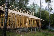 Строительство учебного корпуса Воскресной школы, сентябрь 2015 г.