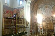 Стены были украшены изображением сцен из Жития свт. Николая Чудотворца, январь 2017 г.