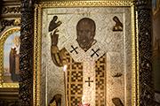Напольная икона чудотворный образ святителя Николая Угодника появилась в храме, декабрь 2017 г.