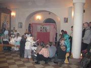 Фольклорный ансамбль «Веретенце» исполнил кукольное представление – рождественский вертеп