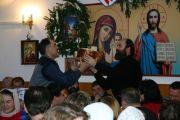 Испеченный сербами Петаром и Великой хлеб «колач» был торжественно разломлен с молитвою