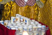 Подарочные свечи с изорбажением Святителя Николая