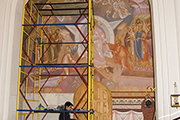 Роспись центральной части композиции