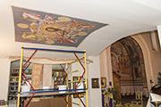 Роспись потолка притвора