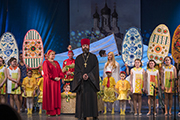 Заключительное слово и благодарность всем участникам фестиваля от настоятеля Никольского храма о. Георгия.
