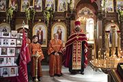 Празднование юбилея Великой Победы в Никольском храме.