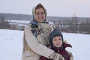 Сеня был самым юным паломником в нашей поездке и его красавица мама - Анна.