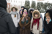 На экскурсии по святыням Сольбинского монастыря.