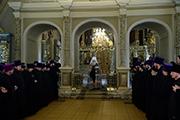 Вручение епархиальных наград в Новодевичьем монастыре.