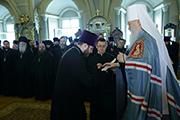 Иерей Георгий Болгарский мл. был удостоен права ношения камилавки.