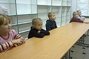 Дети на занятии, посвященном  Преподобному Сергию Радонежскому.