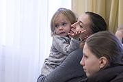 Маленькая Надюша пришла поддержать свою сестру - Алёну Мамонову, нешего замечательного концертмейстера.