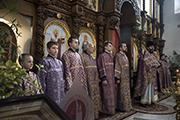 Прощеное воскресенье в Никольском храме.