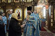 Поздравление с Днем Рождения м. Натальи, которая помогает нашему храму.