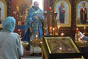 В Никольском храме на Божественной литургии было зачитано Обращение Патриарха Московского и Всея Руси Кирилла по случаю Дня трезвости.