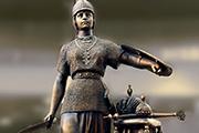 """Скульптура """"Россия"""" знаменитого каслинского литья. На Всемирной выставке в Париже ее хотели купить. Ответ Александра III последовал незамедлительно: Россия не продается!"""