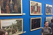 В середине XIX века русские былины начали активно публиковать и исследовать. Художественная среда живо отреагировала на этот процесс, и  художники стали осваивать богатырскую героику наряду с другими фольклорными сюжетами.