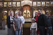 Семья Харитоновых и семья Мячинских.