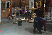 Уборка храма накануне Праздников