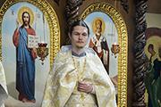 Представление настоятелем приходу нового священника о.Алексия